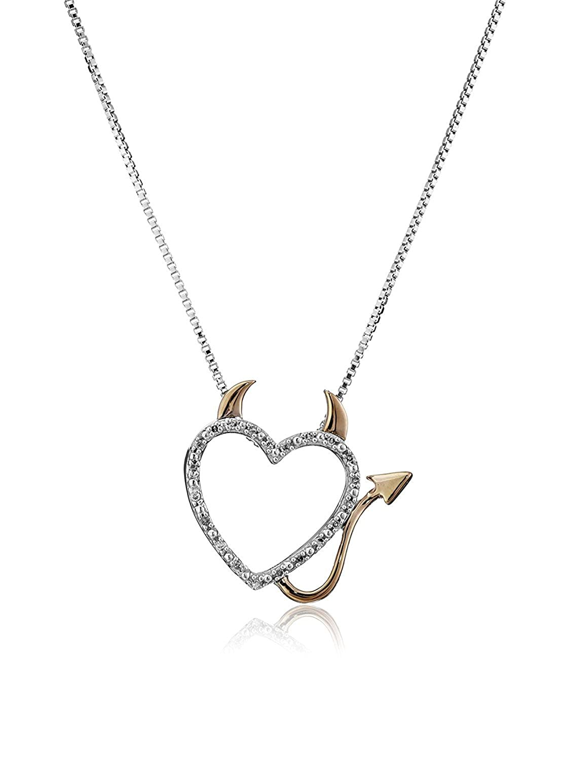 Gorgeous Devil Heart Necklace - Charming Naughty Devil Heart Pendant Necklace for Women Luvalti Luvalti-10