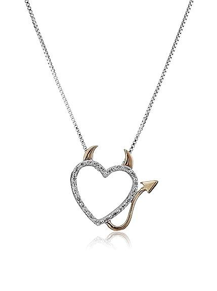 00b1e5adceada Luvalti Gorgeous Devil Heart Necklace - Charming Naughty Devil Heart  Pendant Necklace for Women
