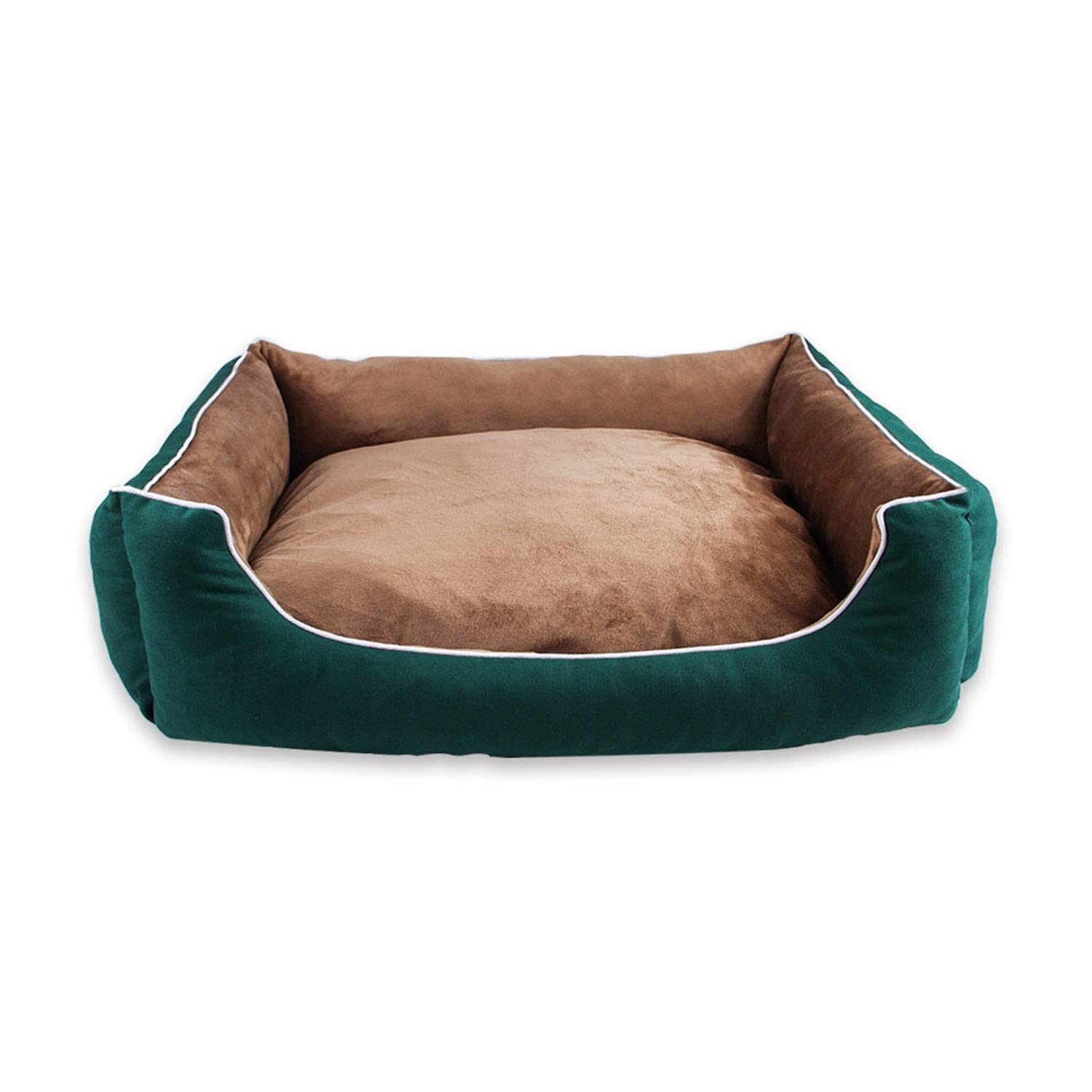 Green S Green S Sile Pet Bed, Indoor Washable Pet Soft Cushion Moisture Proof Oxford Cloth Pet Sofa Comfortable Breathable SL-021 (color   Green, Size   S)