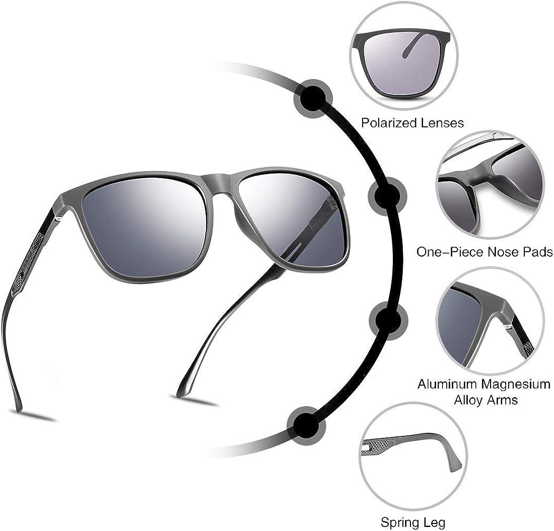MUCO Unisex Polarizzato Occhiali Da Sole Driving Mirror Lens Protezione UV Con Custodia Marchio