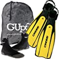 Cressi Pro Light Scuba Diving Fins Bundled w/ Cressi Minorca 3mm Dive Boots GupG Mesh Gear Bag (3 items)