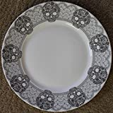 222 Fifth Halloween Skull Lace Dinner Plates - Approx.10- 3/4'' - Set of 4