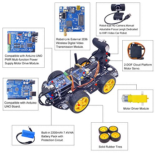 XiaoR Geek DS WiFi Smart Robot Car Kit for Arduino UNO R3,Remote Control HD Camera FPV Robotics Learning & Educational Electronic Toy by XiaoR Geek (Image #3)