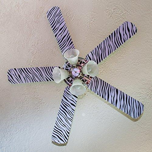 zebra print ceiling fan blades - 1