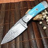 Handmade Damascus Hunting Knife – Amazing Value For Sale