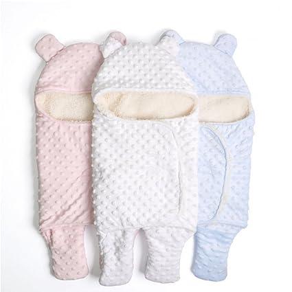 LIMISKY Mantas del bebé Mantas envolventes de Terciopelo de cordero Mantas suaves de los bebes Recién