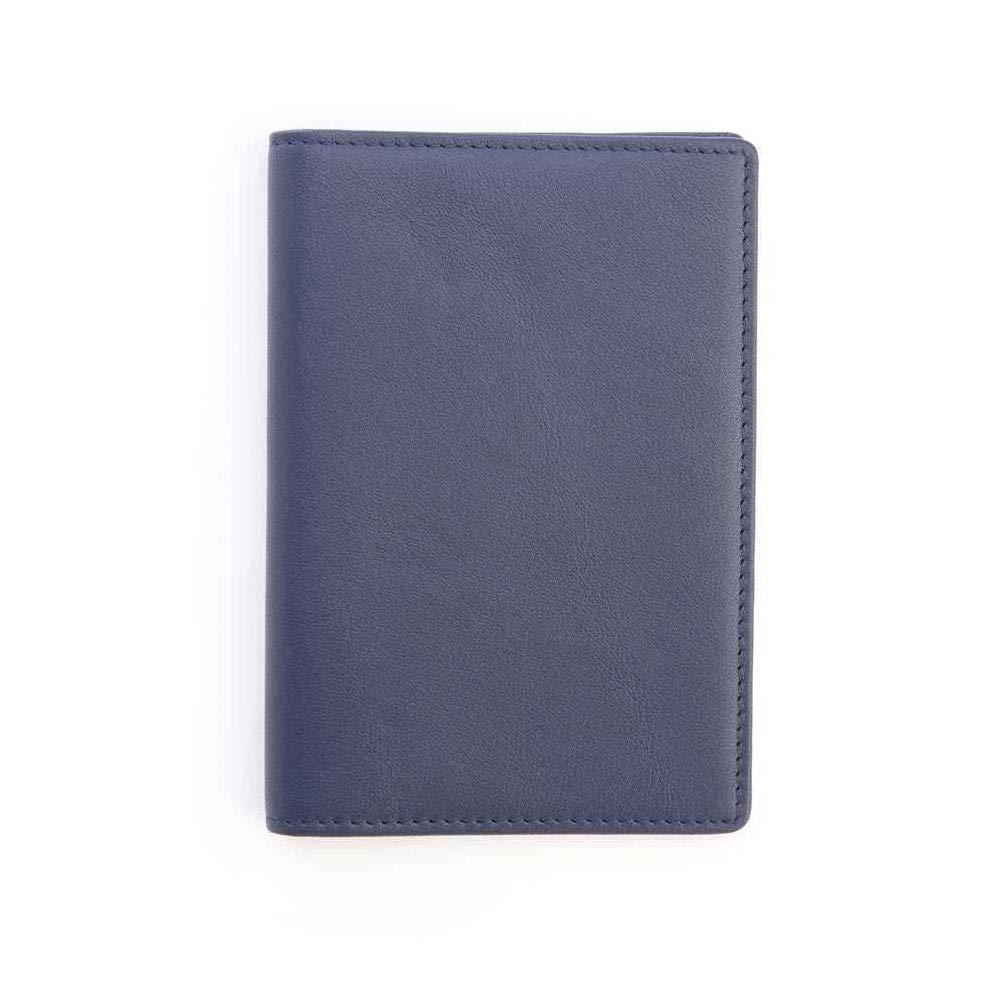 Royce Blue RFID Blocking Leather Passport Wallet RFID-209-BLE-5