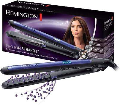 Oferta amazon: Remington Pro Ion S7710 - Plancha de Pelo, Cerámica, Digital, Placas Flotantes largas, Tecnología Iónica Triple, Azul y Negro