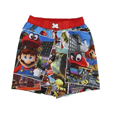 7a2a22256f Amazon.com: Mario Brothers Boys Swim Shorts: Clothing