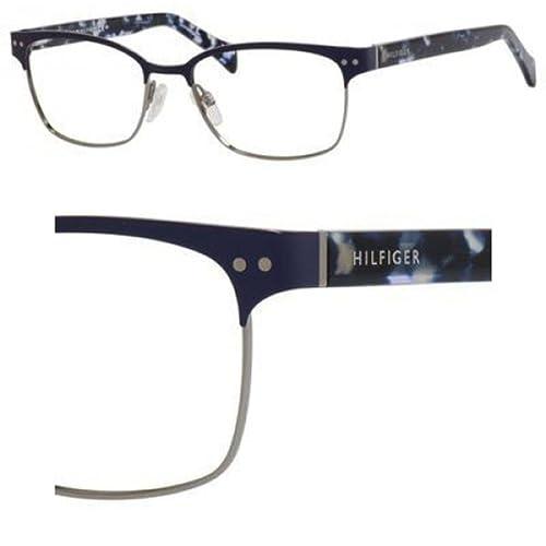 Tommy Hilfiger Brillen Unisex 1306 VJD, Blue / Ruthenium / Blue Tortoise Gestell aus Metall und Kuns...