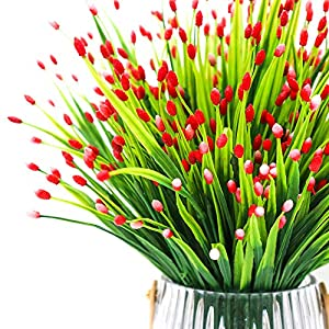 Yunuo 6PCS Mini Fruits Grasses Plants Artificial Flowers for Home Wedding Party Decor (red) 2