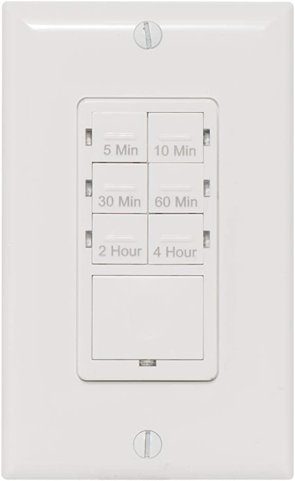 NSi TORK R5M4HW Indoor In-Wall Countdown Digital Lighting and Appliance Timer, White