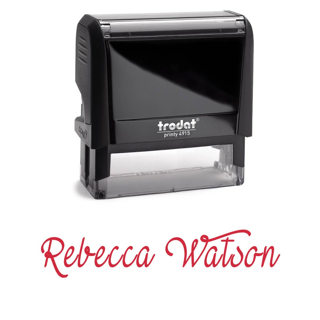 Personalized Custom Signature Stamp. Great Labelling Self Inking Stamp With Unique Font. Perfect For Bank Deposits, Registered Nurses, Home, Office Or School Red Ink, Self Inking Stamp
