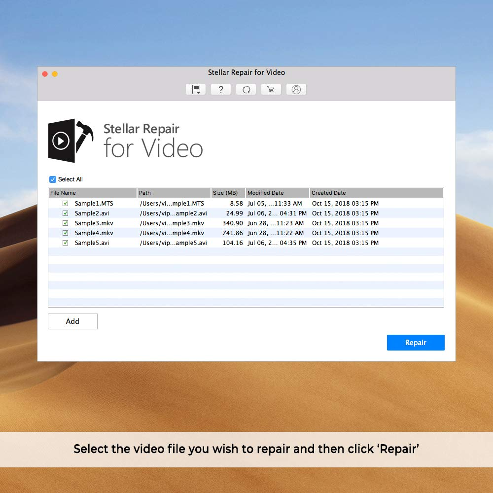 Stellar Repair for Video Software | for Mac | Standard | Repair Corrupt or  Damaged Videos | 1 Device, 1 Yr Subscription | CD