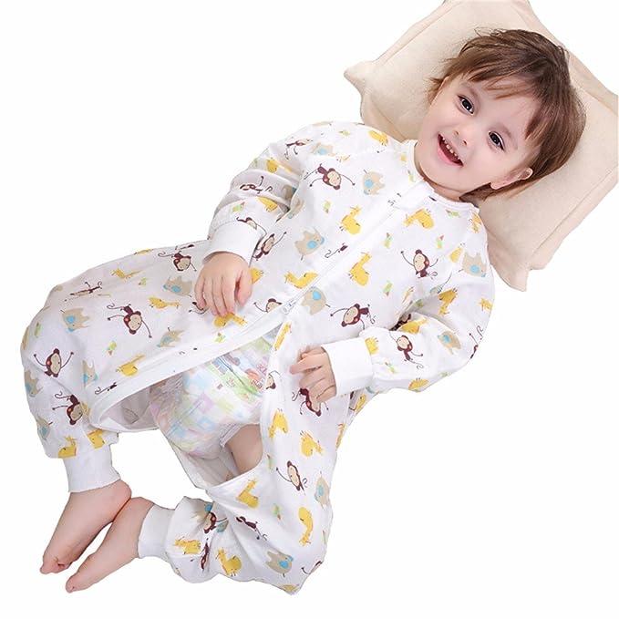 T-TLKJ Saco de Dormir para Bebés Swaddle Saco de Dormir para Bebés Sección Delgada