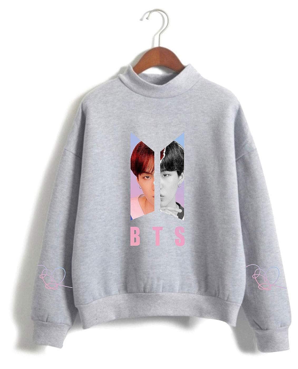 SIMYJOY Womens BTS Fans Sweatshirt Kpop Concert Idol Support Pullover Girls Cute Jumper Loose Fitting Top Nice Gift