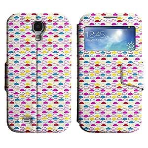 Be-Star Diseño Impreso Colorido Slim Casa Carcasa Funda Case PU Cuero - Stand Function para Samsung Galaxy S4 IV / i9500 / i9505 / i9505G / SGH-i337 ( Assorted Clouds )