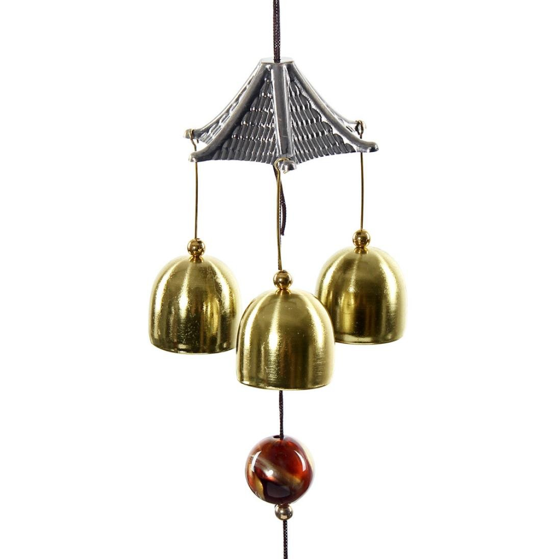 Jareally Wind Chimes, Great Sound Bronze Color Temple Bells Wind Chimes Windchimes (A-Tower)