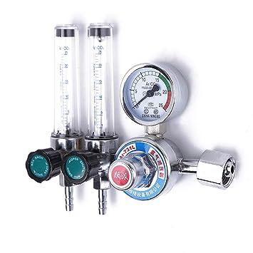 Create Idea Argon//CO2 Pressure Reducer Flow Control Gas Regulator Dual Gauge Welding