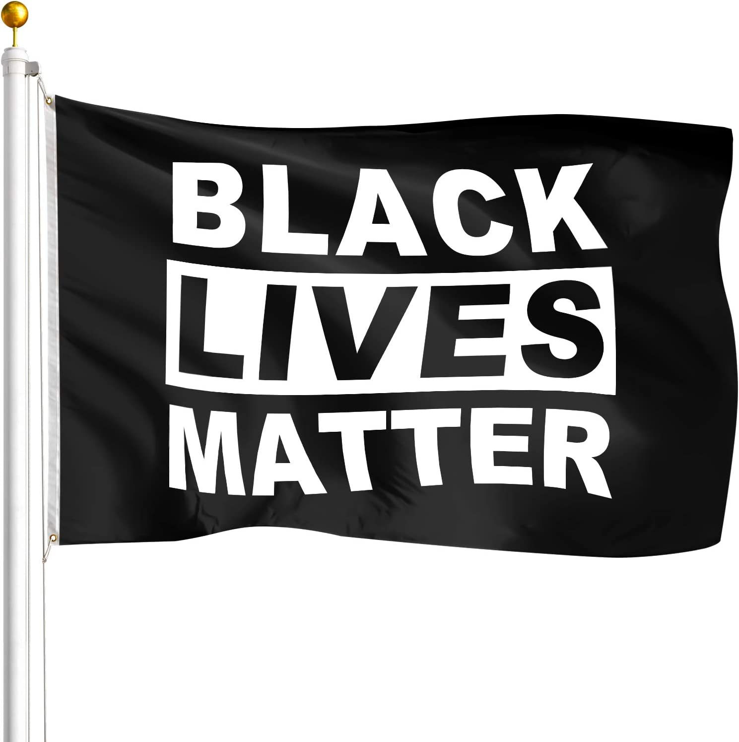 Amazon.com : Hamowtux 【FBA in Stock】 Black Lives Matter Flag BLM Flag with  Brass Grommets, 3'x5' Garden Flag Banner Wall Flag for Indoor Outdoor  Democrats I Can't Breathe George Floyd BLM Justice