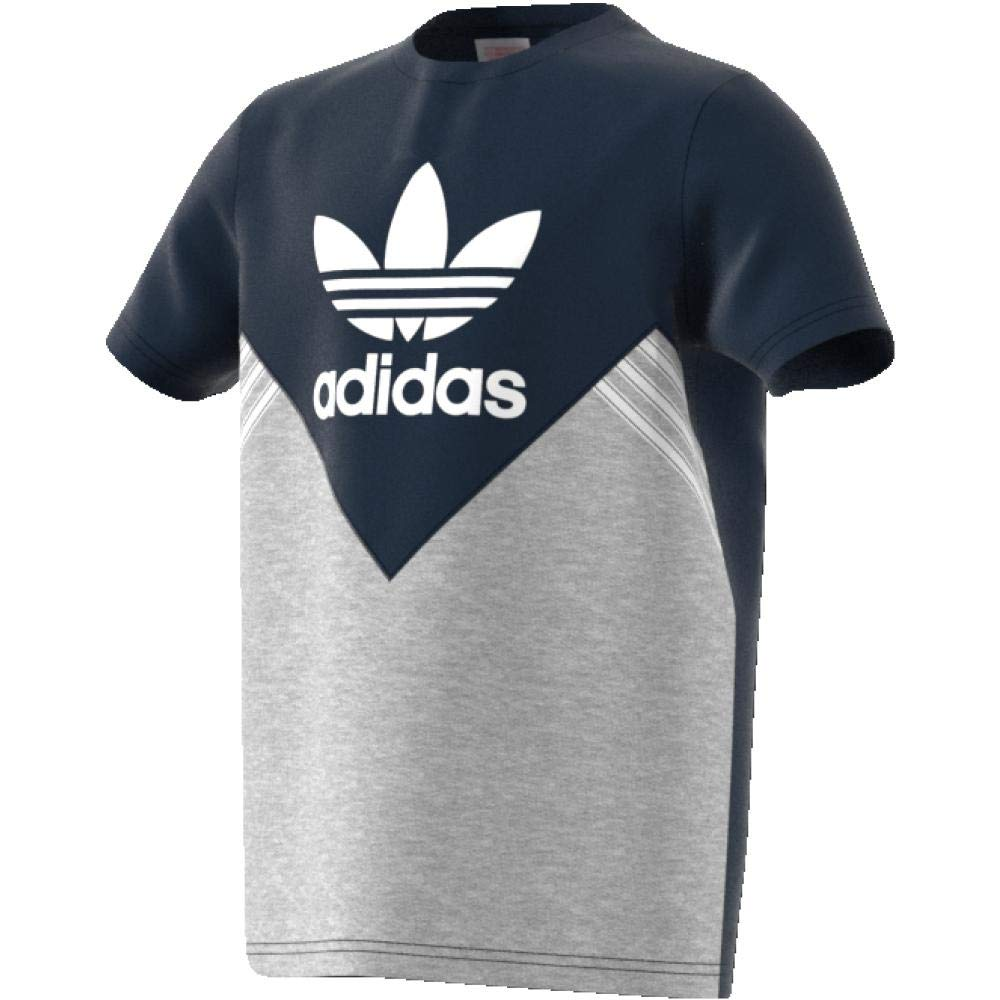 adidas T Shirt – JM FL BlueGreyWhite Size: 147 152 cm Tall 11 To 12 Years