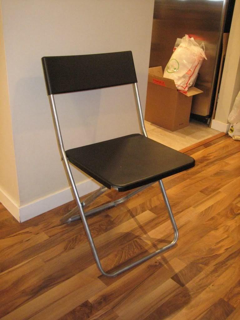 Ikea Negro Silla Plegable, apilable: Amazon.es: Hogar