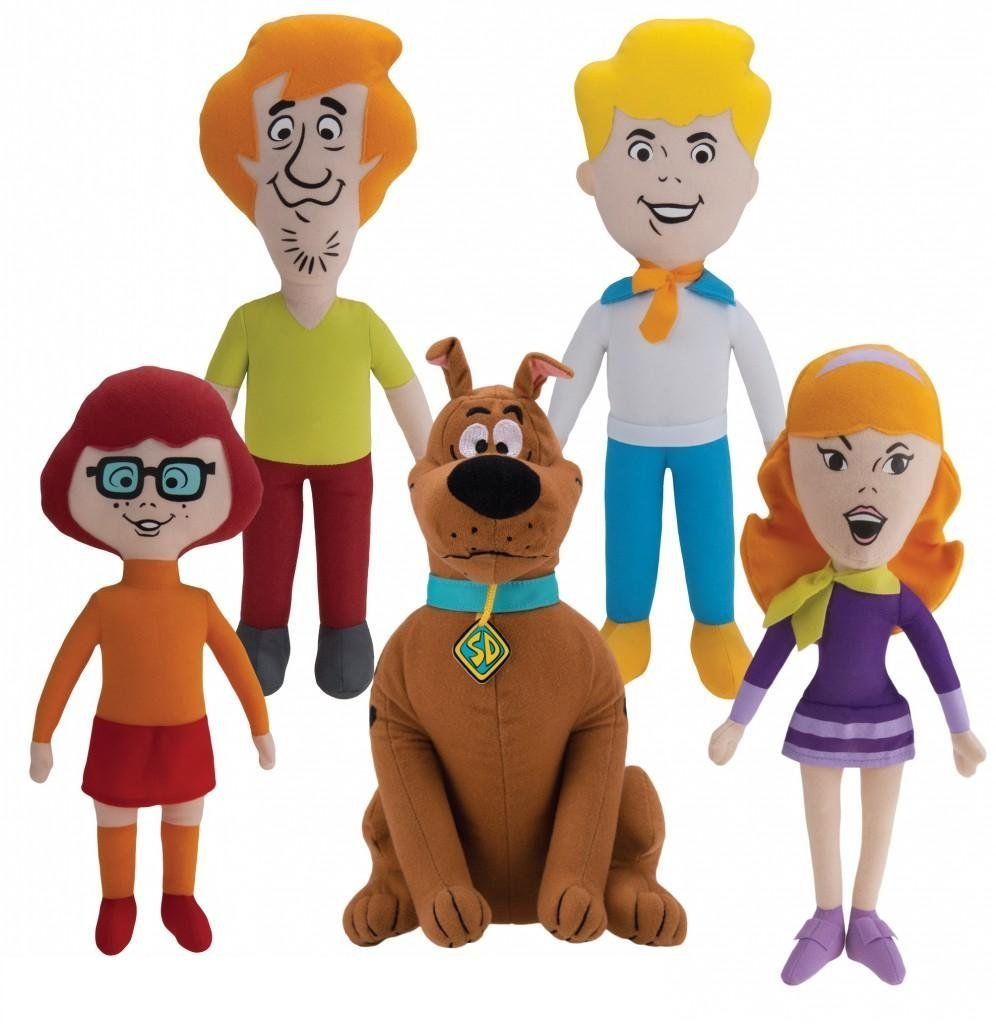 Amazoncom Scooby Doo Mystery Gang Set of 5 Push Dolls Featuring