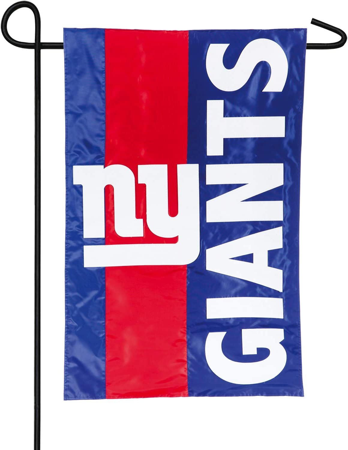 Team Sports America NFL New York Giants Embroidered Logo Applique Garden Flag, 12.5 x 18 inches Indoor Outdoor Double Sided Decor for Football Fans