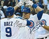 Javy Baez & Kyle Schwarber Chicago Cubs Autographed Signed 8 x 10 Photo -- COA - (Mint Condition)