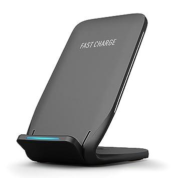 Holife Cargador Inalámbrico Rápido, Type-C Cargador Inalámbrico para iPhone X/XS/XS MAX/XR/8 Plus/ 8, Carga Rápida 10W para Galaxy S9/S9+/S8, ...