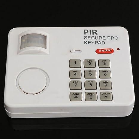 Sistema de alarma de sensor de movimiento inalámbrico PIR con teclado de seguridad situado para cubrir