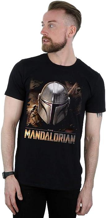 Star Wars Hombre The Mandalorian Helmet Camiseta