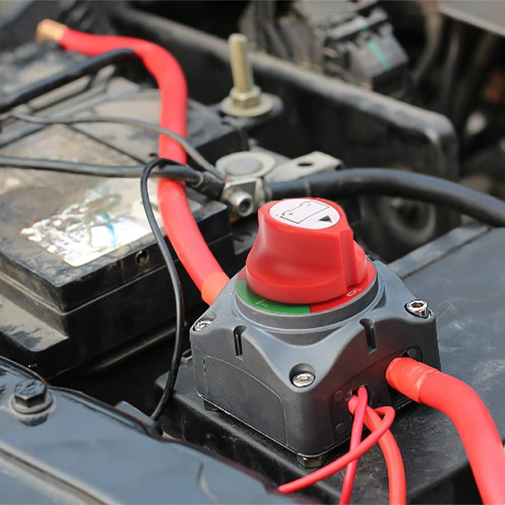 Interruptor de corte de bater/ía Master Switch Bater/ía 12 V//24 V Master bater/ía aislador interruptor de desconexi/ón de bater/ía de coche Kill Switch accesorios para RV Yacht barco cami/ón autob/ú
