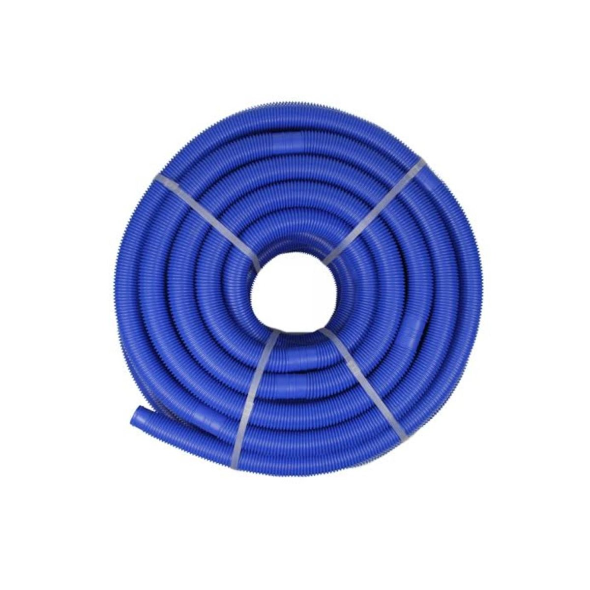 Blue Blow-Molded PE In-Ground Swimming Pool Cuttable Vacuum Hose - 147.5' x 1.25''