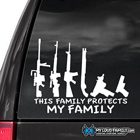 10 pack gun family decal sticker this family protects my family