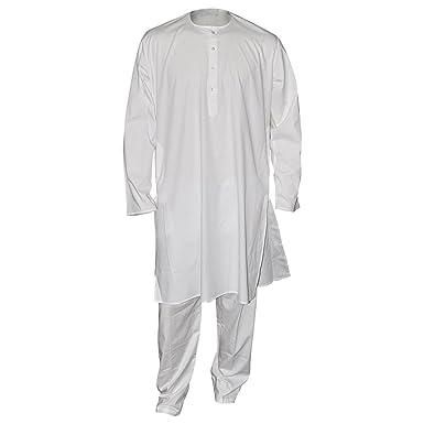 Indian Yoga Clothing Men Cotton Dress White Kurta
