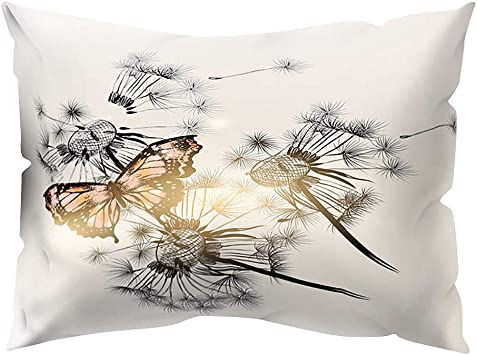 Amazon Com Houshelp Butterfly Print Pillow Covers Pillow Covers Decorative Throw Pillow Cases Cushion Case For Sofa Couch Bed Home Decorations Indoor Outdoor Decorations For Sofa Outdoor Camping 30x50cm Furniture Decor
