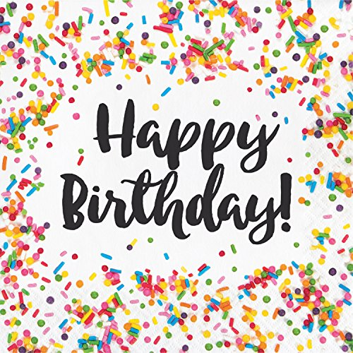 Confetti Sprinkles Birthday Napkins, 48 ct ()
