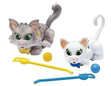 Pet Parade - Set de 2 Figuras de Gatos de Siberia, Color Blanco y Gris (Flair Leisure Products PTC01421): Flair: Amazon.es: Juguetes y juegos