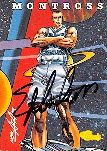 (Eric Montross autographed Basketball Card (North Carolina Tar Heels) 1994 Classic Illustration Rookie #105)