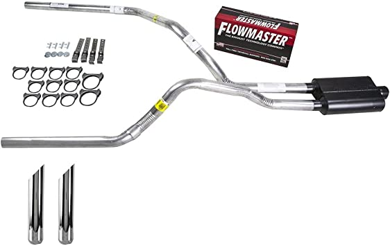 Truck Exhaust Kits DIY dual exhaust system 2.25 pipe Flowmaster Super 40 SW Tip