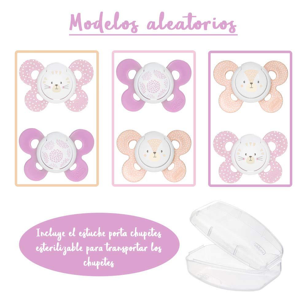RUBY - Chupetero Personalizado más Pack 2 Chupetes CHICCO Para Bebes ...