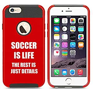 Apple iPhone 5 5s Shockproof Impact Hard Case Cover Soccer Is Life (Red)