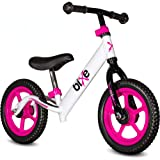 Bixe: Pink (Lightweight - 4LBS) Aluminum Balance Bike for Kids and Toddlers - No Pedal Sport Training Bicycle - Bikes for 2,