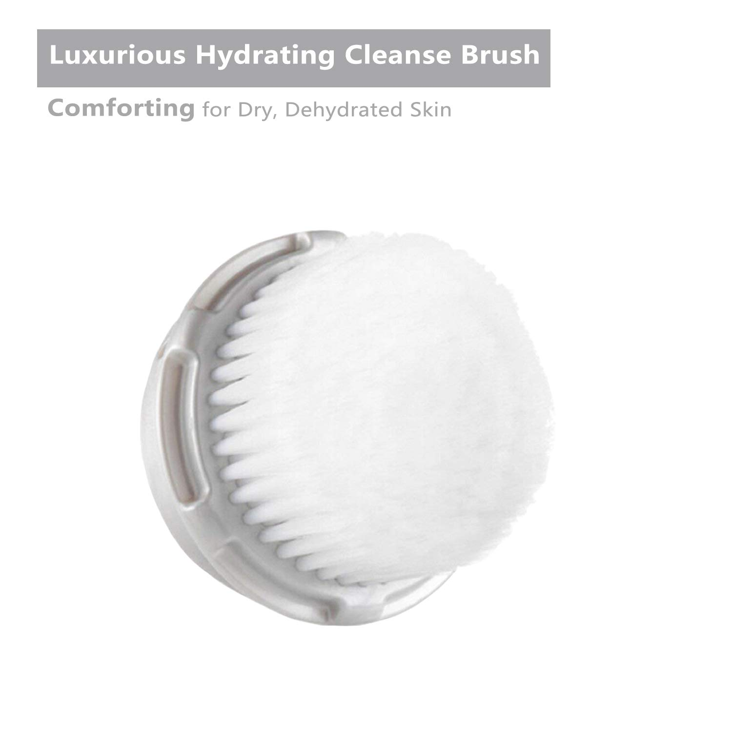 Lemleo Replacement High Performance Luxe Facial Cleansing Brush Head, Compatible with Mia Mia2 Mia3 Aria Mia Fit Smart Profile and Alpha Fit Facial Cleansing System