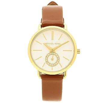 f09d4a645e62 [マイケルコース] 腕時計 レディース MICHAEL KORS MK2734 ブラウン イエローゴールド シルバー [並行輸入
