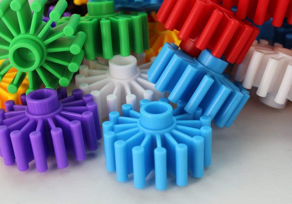10 Learning Color Cognition Make Wonderful World Run Wild Imaginatit Bristle Stacking Construction Toys Kit for Toddlers and Kids 60 PCS ZOOLANDOR Gear Interlocking Building Set Coglets 60 Pieces