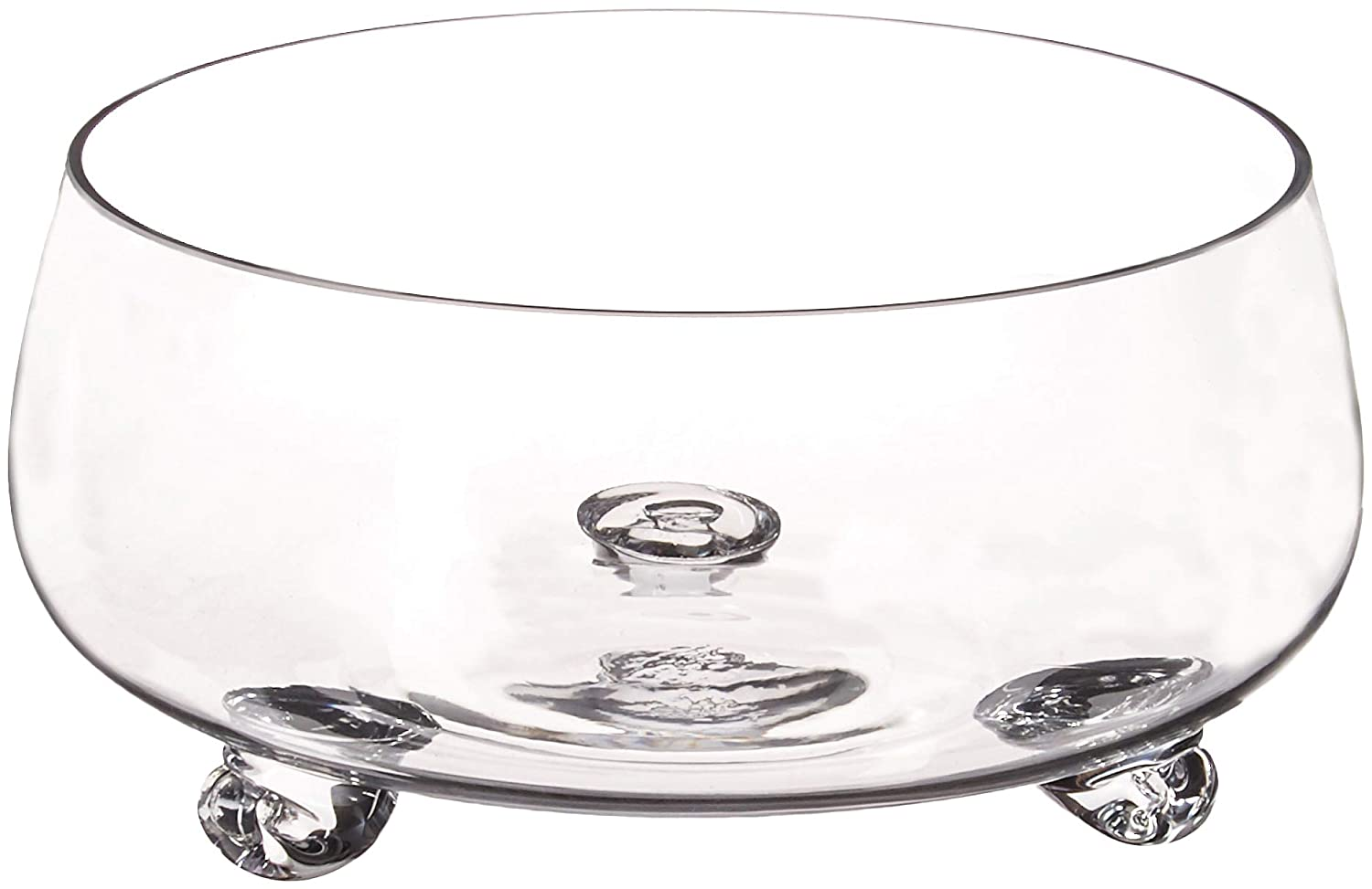 """Diamond Star Glass 10.5""""Dx5"""" clear Footed Bowl"""