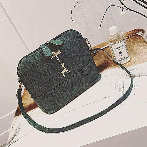 Borse Elegante Pelle Pacchetto In Vintage kword Piccolo Donne Messaggero Casual Verde Guscio Borsa AArTfq1