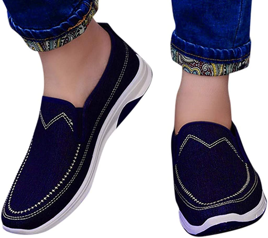 Homme Chaussures en Toile D/écontract/ée Bateau Mocassins Loisir Espadrilles Confortable Baskets 39-45